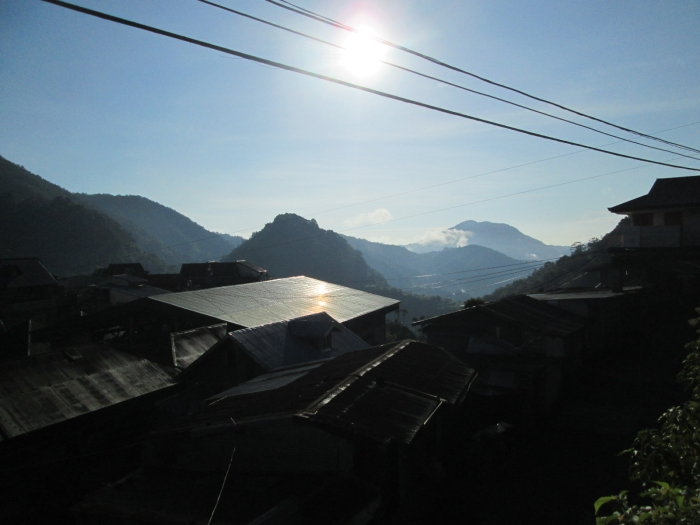 Banaue- hilly village surrounded by Rice terraces