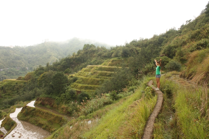 Walking inside Rice Terraces. Those paths were quite narrow actually!