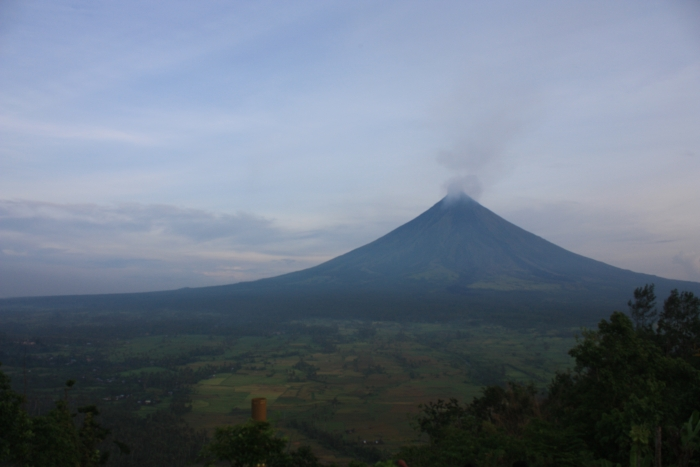 Mayon volcano in the early morning