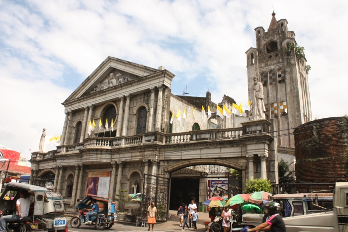 Catholic Cathedral in Naga City. More than 300-years of Spanish rule had a strong influence in religion.