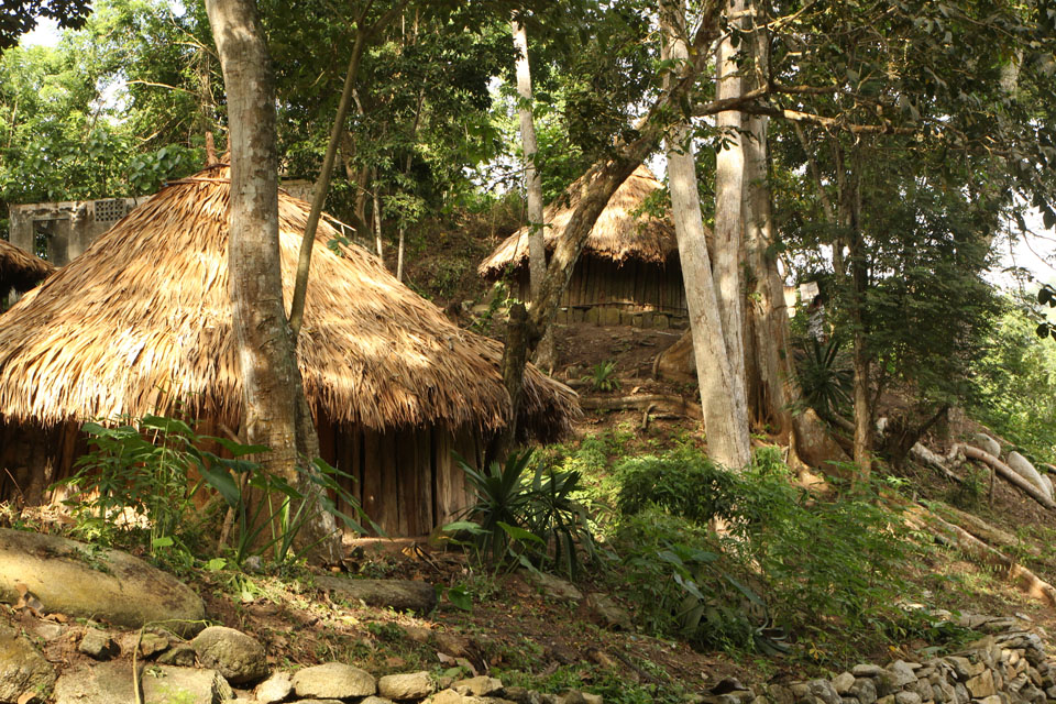 Tayrona park: settlements of the Kogis people